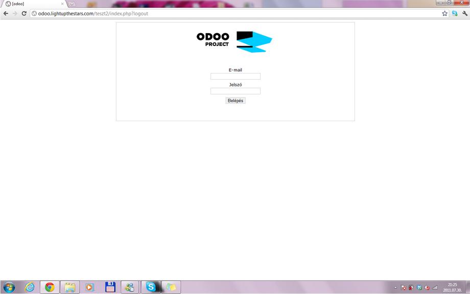 odooproejct private webpage Kommunikáció