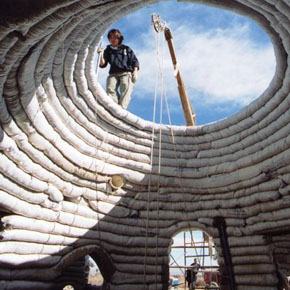 Developed earth-architecture: the superadobe