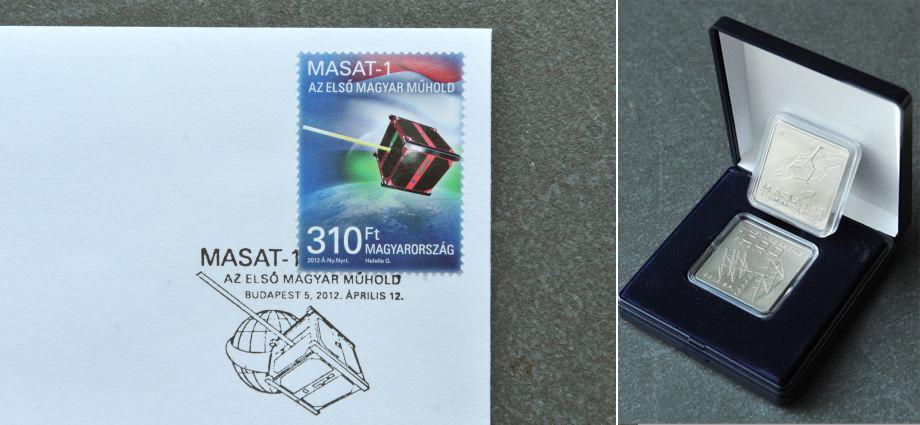 masat1 <!  :hu  >MNB érmét bocsátott ki a Masat 1 tiszteletére<!  :  ><!  :en  >Coin and stamp dedicated to Masat 1<!  :  >