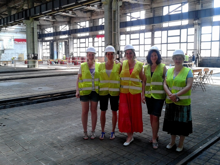 s02 The first official visitors in our construction hall: Siemens