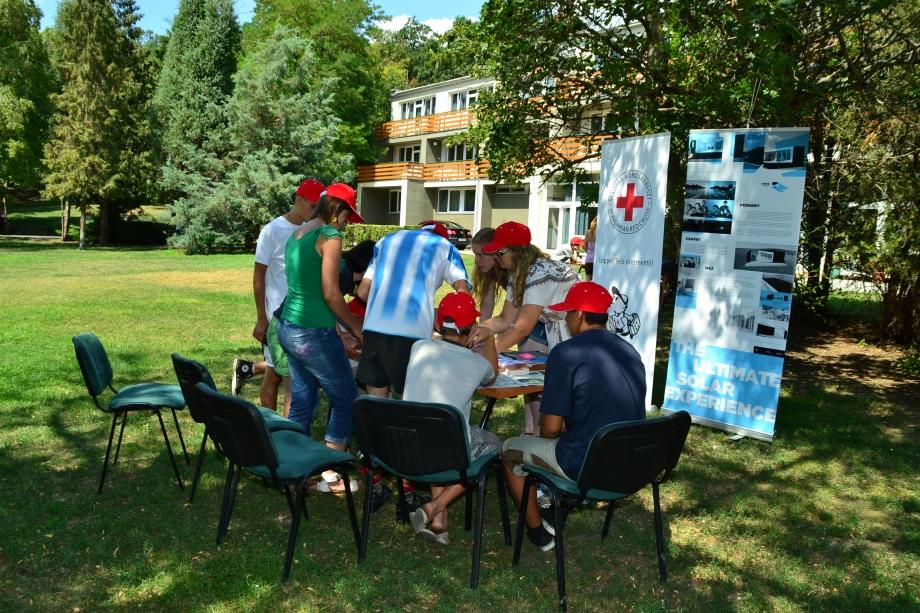 csoport Zánka és a Vöröskereszt