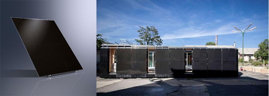 mikrokristályos OdooMaterials – SCHÜCO photovoltaikus rendszer az ALUKÖNIGSTAHL Kft től