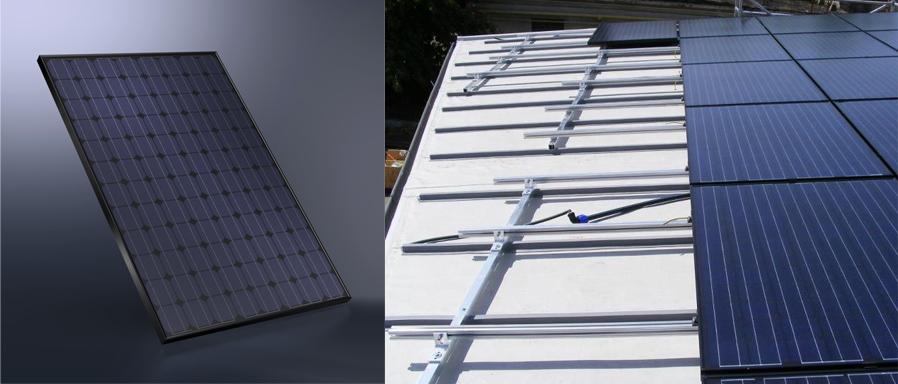 monokristályos OdooMaterials – SCHÜCO photovoltaikus rendszer az ALUKÖNIGSTAHL Kft től