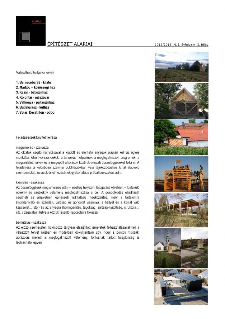 epalap2013 I feladat 20130207 b Page 2 723x1024 Becsengettek   Az építészet alapjai